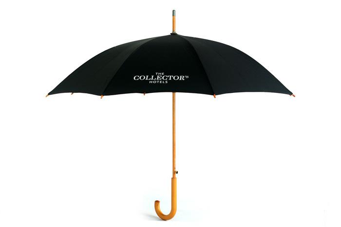 实木直杆广告伞