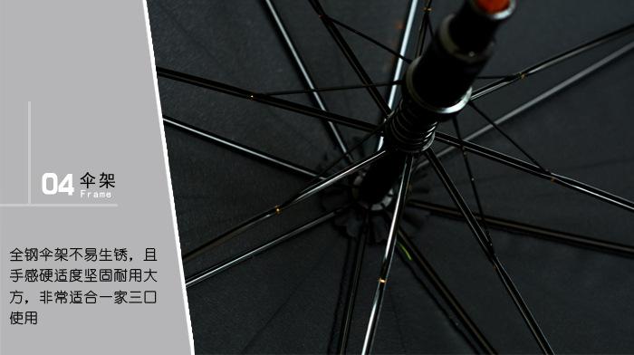 弯柄直杆广告伞